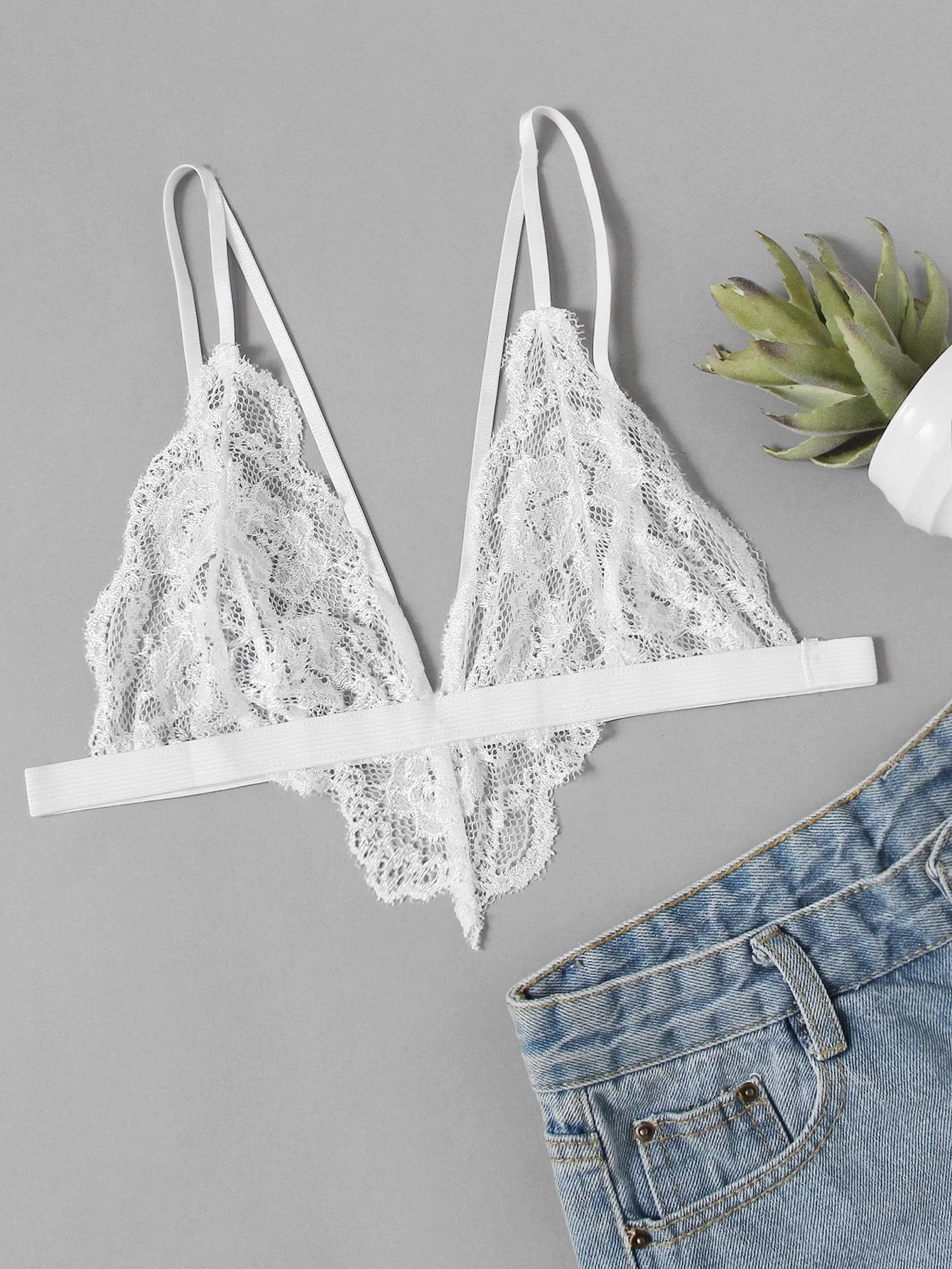 Harness Detail Lace Bralette lingerie170816307