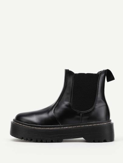 Women's boots - Leather, Black, Boots And High Knee | Romwe.com