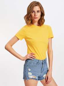 Ribbed Basic Tshirt