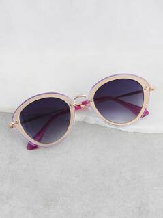 Rounded Cat Eye Sunnies PURPLE