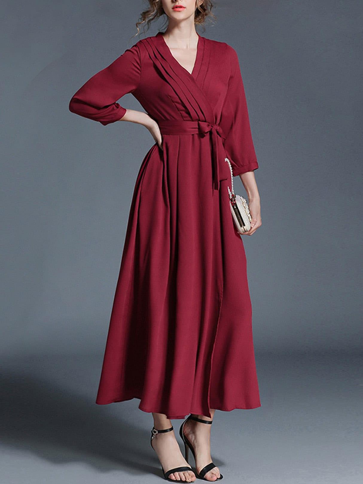 Tie Waist Surplice Front Dress