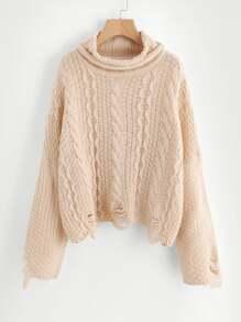 Pull-over rétro en tricot