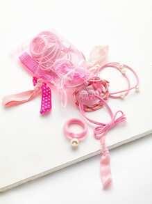 Bandeau avec nœud et des perles fausses 20 pièces &Sac à maille