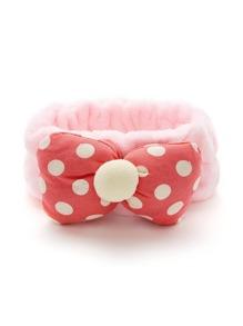 Polka Dot Bow Elastic Headband