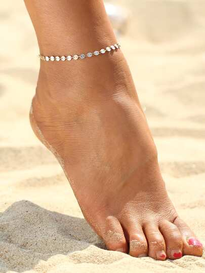 Sequin Design Chain Anklet