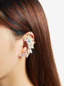Iridescent Rhinestone Ear Crawler 1pc
