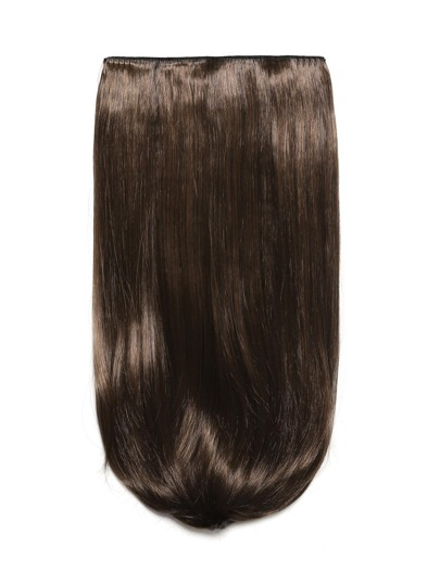 Warm Brunette Clip In Long Straight Hair Extension