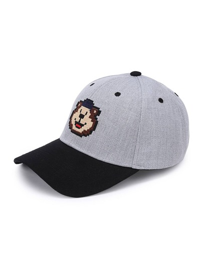 Two Tone Cartoon Print Baseball Cap