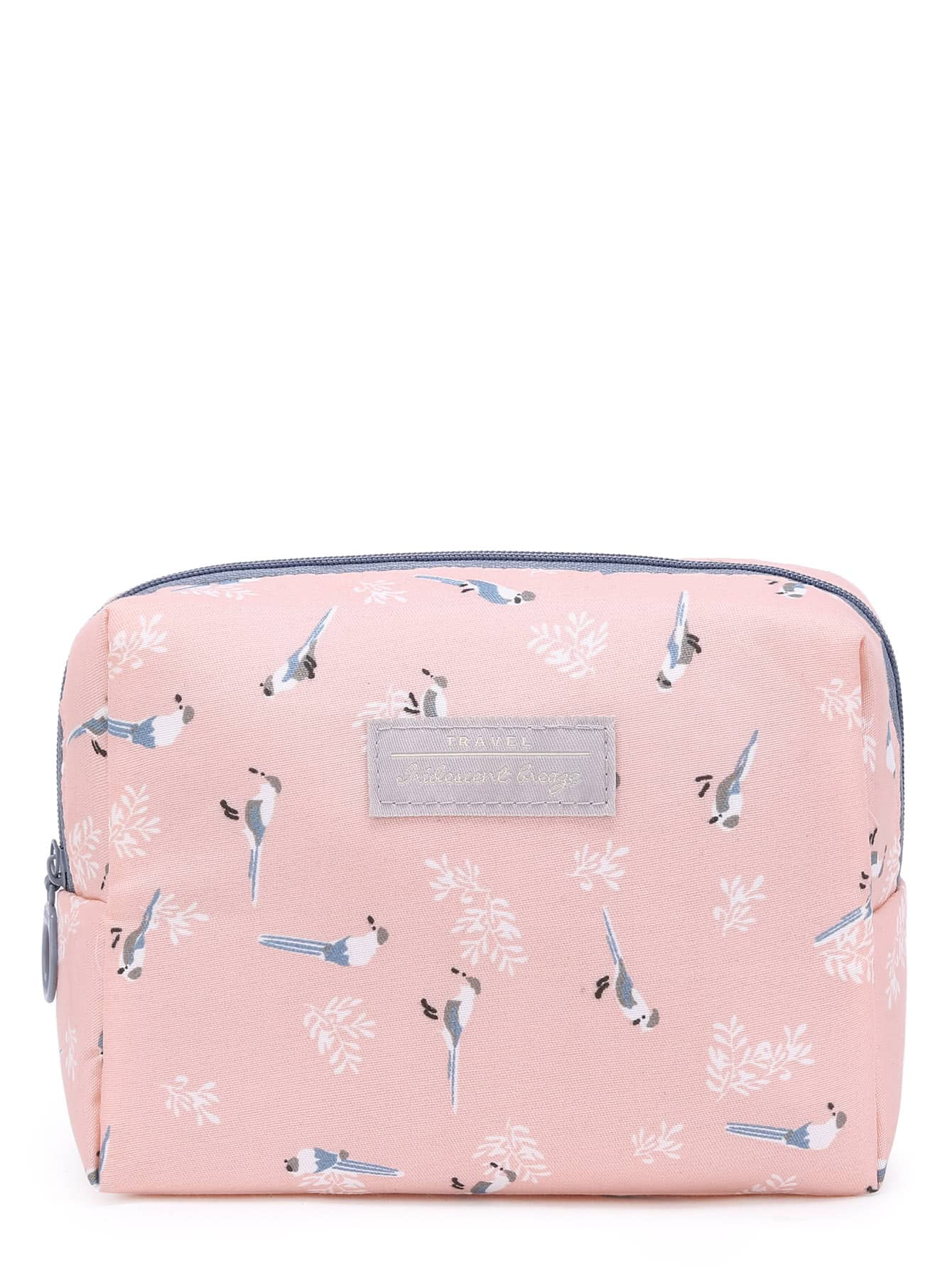 Image of Bird Print Accessory Pouch