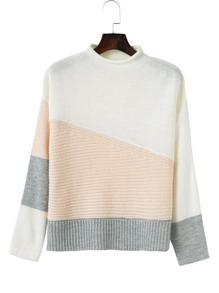 Sweater color-block