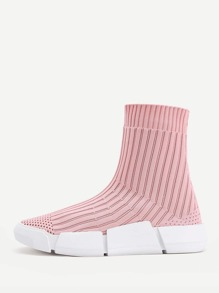 Knit Sock High Top Sneakers