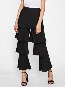 Tiered Bell Bottom Pants