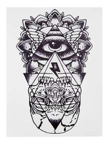Geometric Pattern Tattoo Sticker
