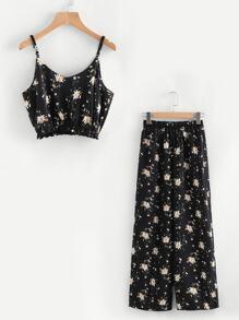 Модный комплект с принтом