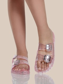 Jelly Duo Buckle Sandals CLEAR