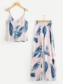 Jungle Print Cami Top With Pants