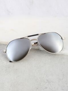 Mirrored Double Bar Sunnies BLACK