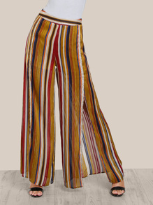 Multi Stripe High Rise Pants MULTI