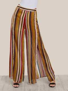 Multi Stripe High Rise Pants MULTI