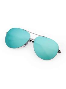 Double Bridge Rimless Sunglasses