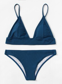 Ensemble de de Bikini triangle avec lacet ajustable