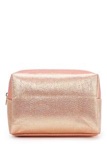 Bolsa cosmética brillante con cremallera