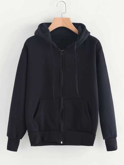 Kangaroo Pocket Zip Up Hoodie