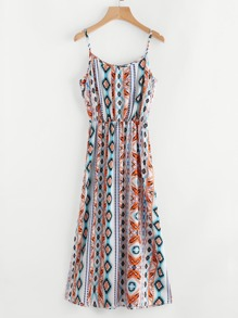 Aztec Print Cami Dress