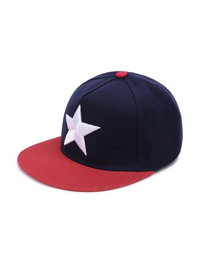 Star Embroidery Snapback Cap