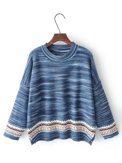 Marled Knit Drop Shoulder Knitwear