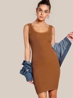 Ribbed Bodycon Dress AMBER