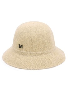 Letter Detail Bucket Hat