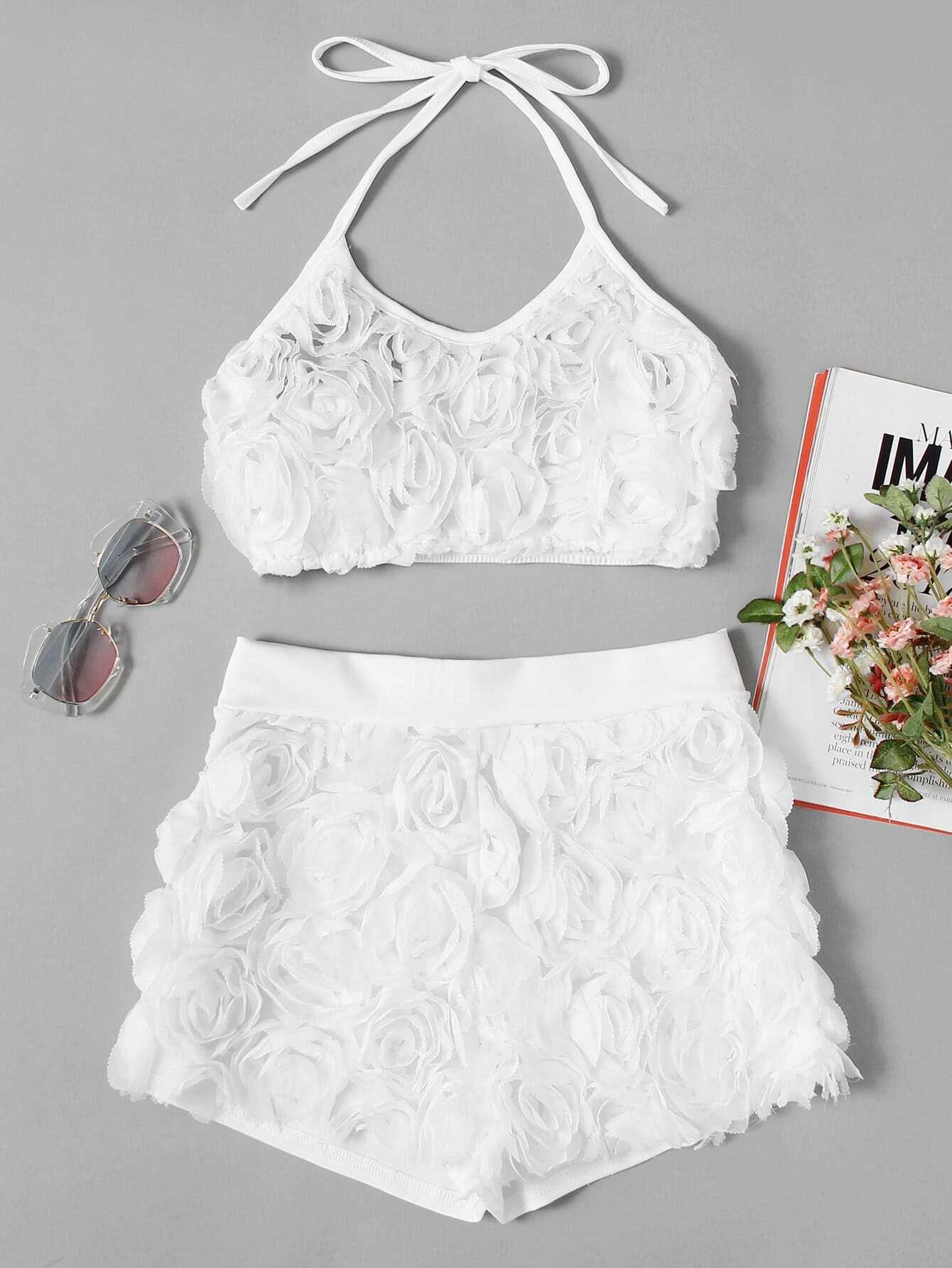 Купить Модный комплект с цветками, null, SheIn
