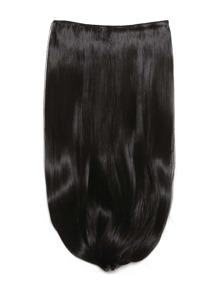 Natural Black Clip In Long Straight Hair Extension