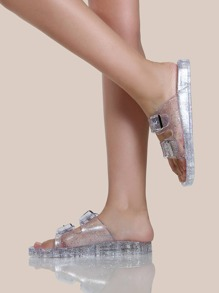 Jelly Two Buckle Sandals CLEAR