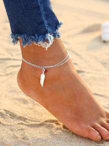 Braccialetto / cavigliera di fascino della piuma