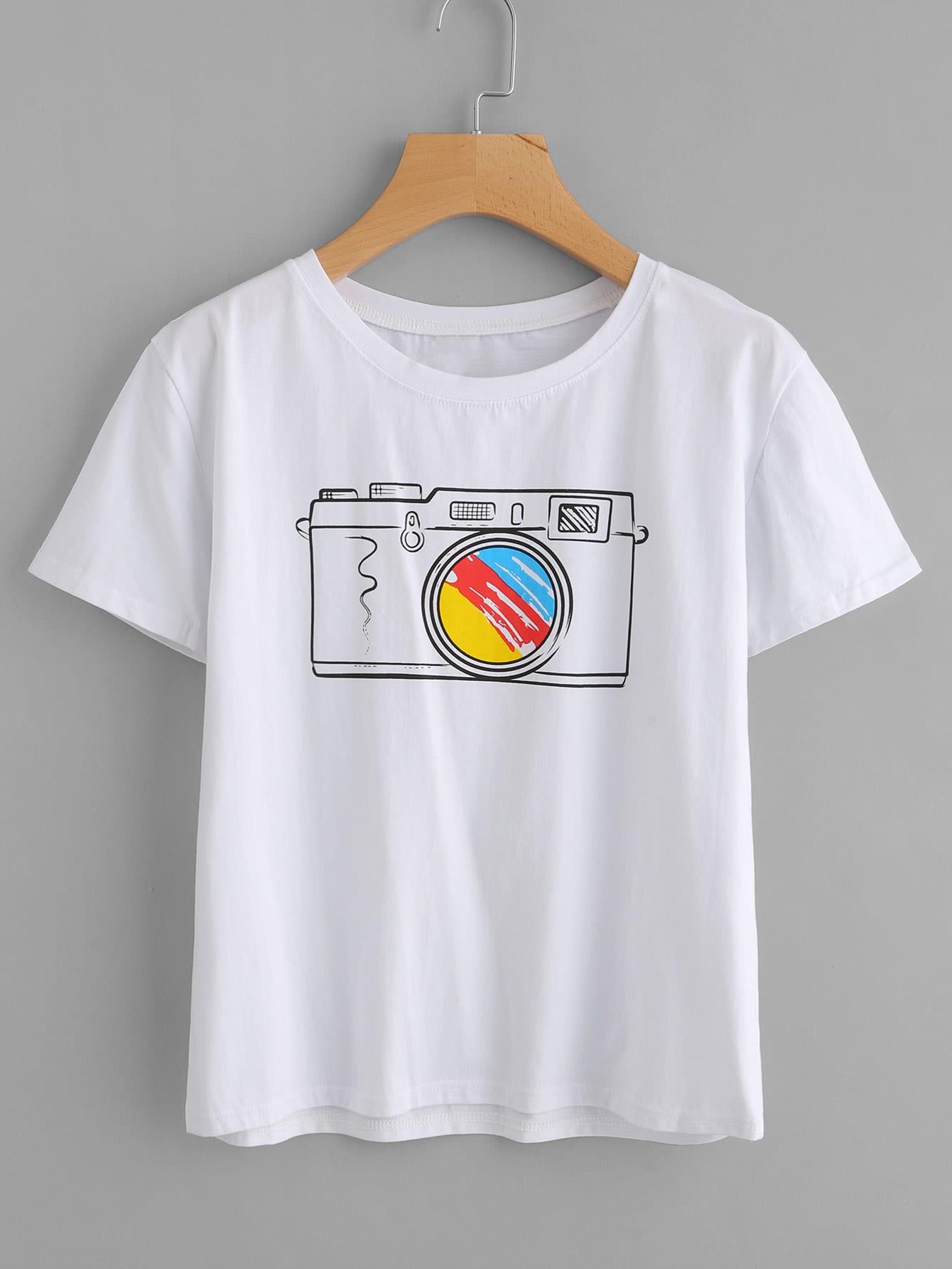 Camera Print Tee