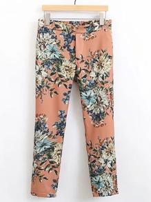 Flower Print Slim Pant