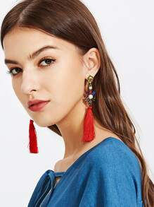 Tassel Drop Earrings With Jewelry