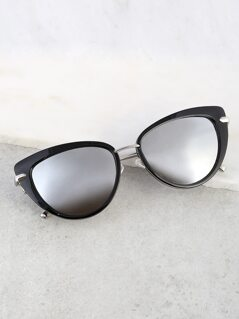 Solid Cat Eye Sunglasses GREY