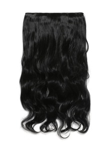 Jet Black Clip In Soft Wave Hair Extension