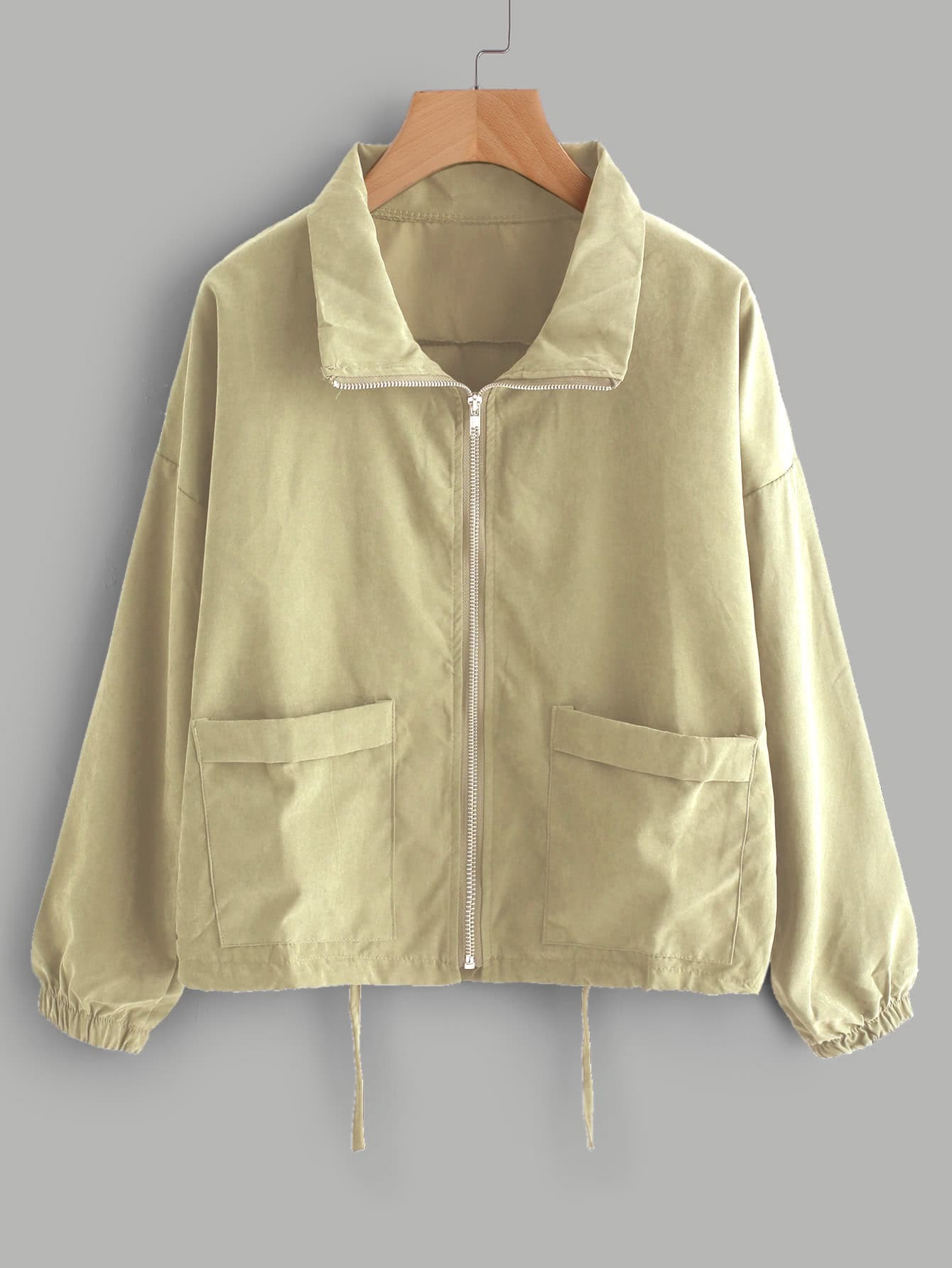 Zip Up Drawstring Jacket