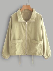 Zip Up Drawstring Jacket