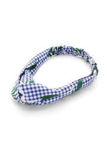 Plaid Print Twist Headband