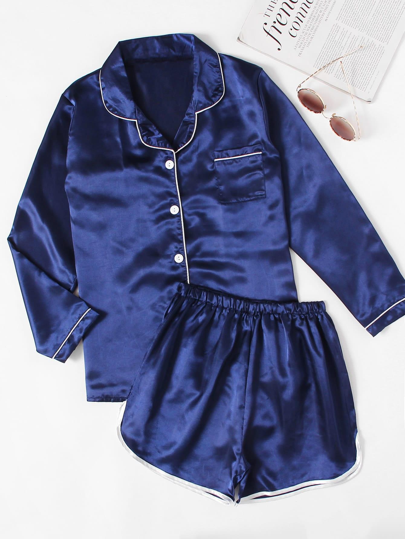 Атласная пижама | Shein