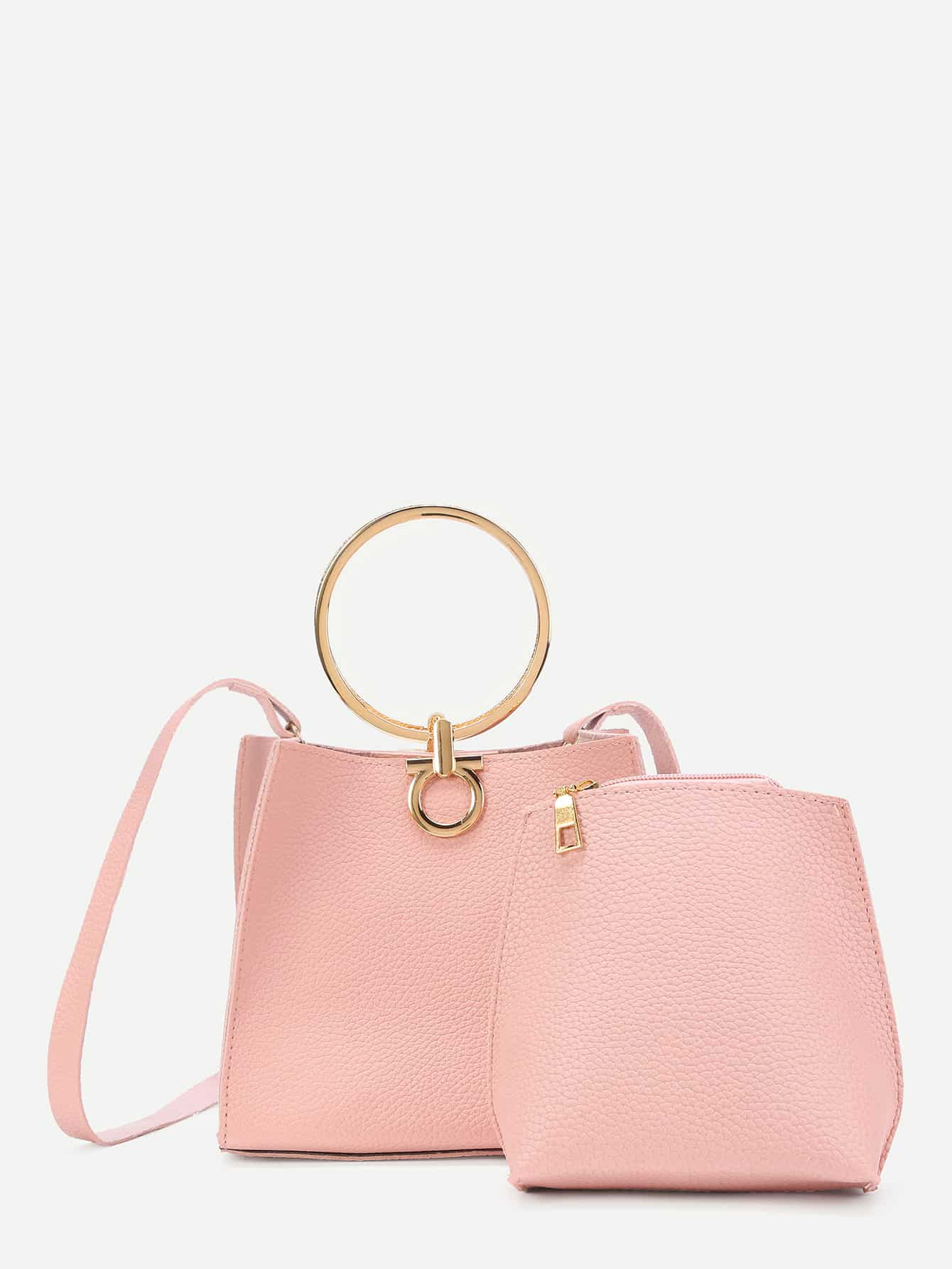PU Shoulder Bag With Inner Pouch thumbnail