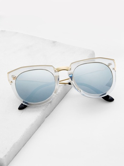 Clear Frame Tinted Lens Sonnenbrille