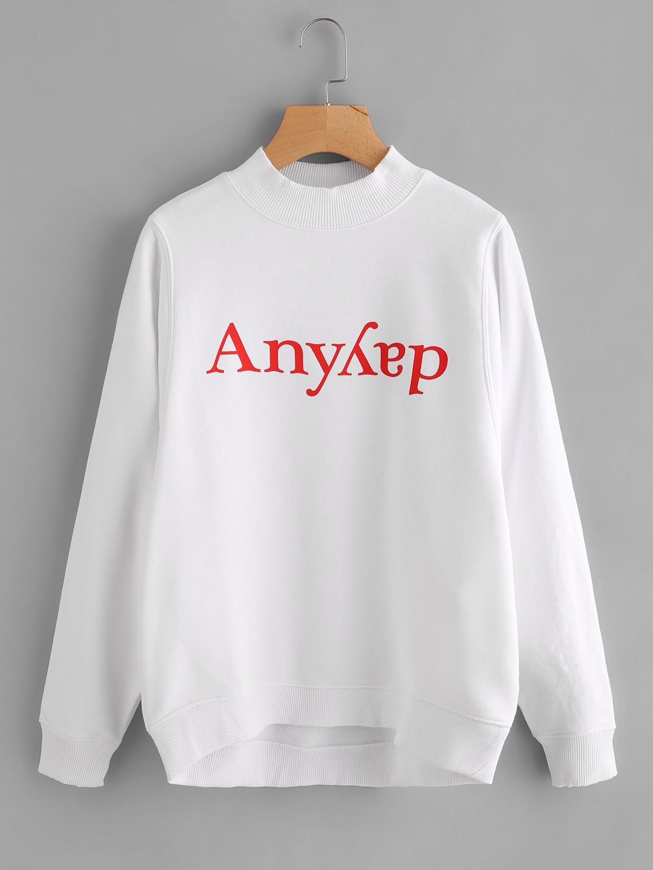 Dip Hem Graphic Hoodie sweatshirt170825457