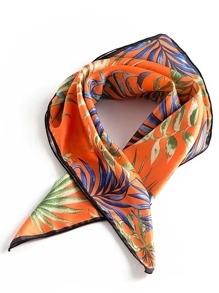 Leaves Print Square Scarf