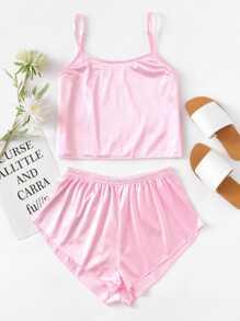 Satin Cami Pajama Set